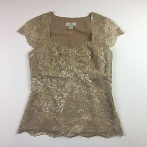 Golden Lace Loft Blouse
